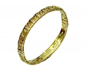 14kt Loggia Bangle Bracelet with .66pts diamonds