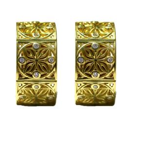 14kt Salon Earring .24pts Diamonds
