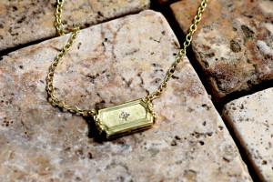 Gold & Diamond  Legacy Necklace .08pts diamonds