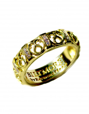 14kt Loggia Stacking Band Ring with . 10pts Diamonds
