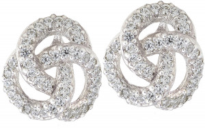 2.34ct Diamond Love Knot Earring