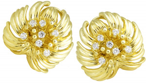 Gold Earring with .70pts Diamonds