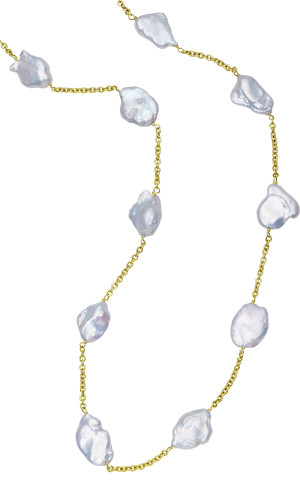 "28"" Keshi Pearl Necklace"