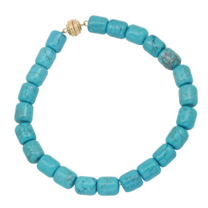 Kingman Turquoise Necklace with Magnetic Clasp