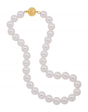 White Shell Pearl Necklace with Magnetic Clasp