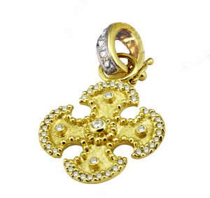 Maltese Cross Pendant with .46pts Diamonds