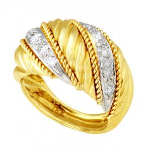 Swirl Ring with .44pts Diamonds