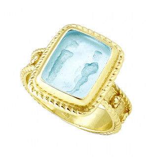Oedipus and Sphinx Venetian Glass Ring