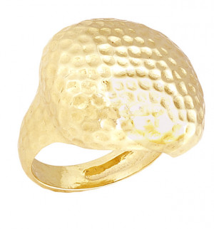 Gold Ring with Hammered Texture