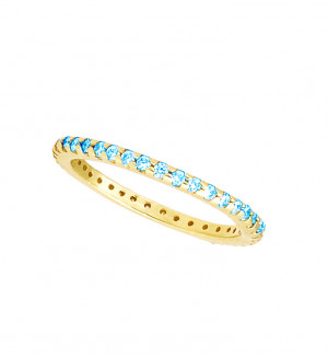 Eternity Band with Blue Topaz