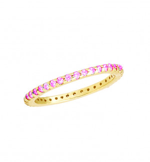 Eternity Band with Pink Topaz